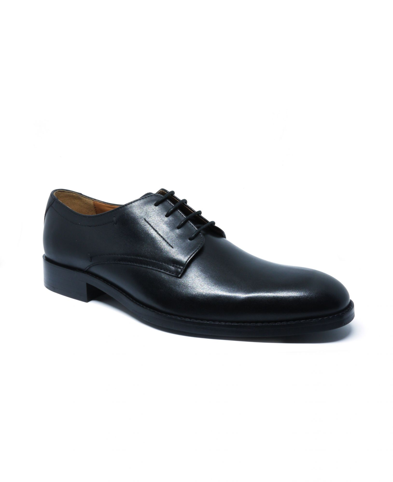 Black Leather Derby Shoes 12