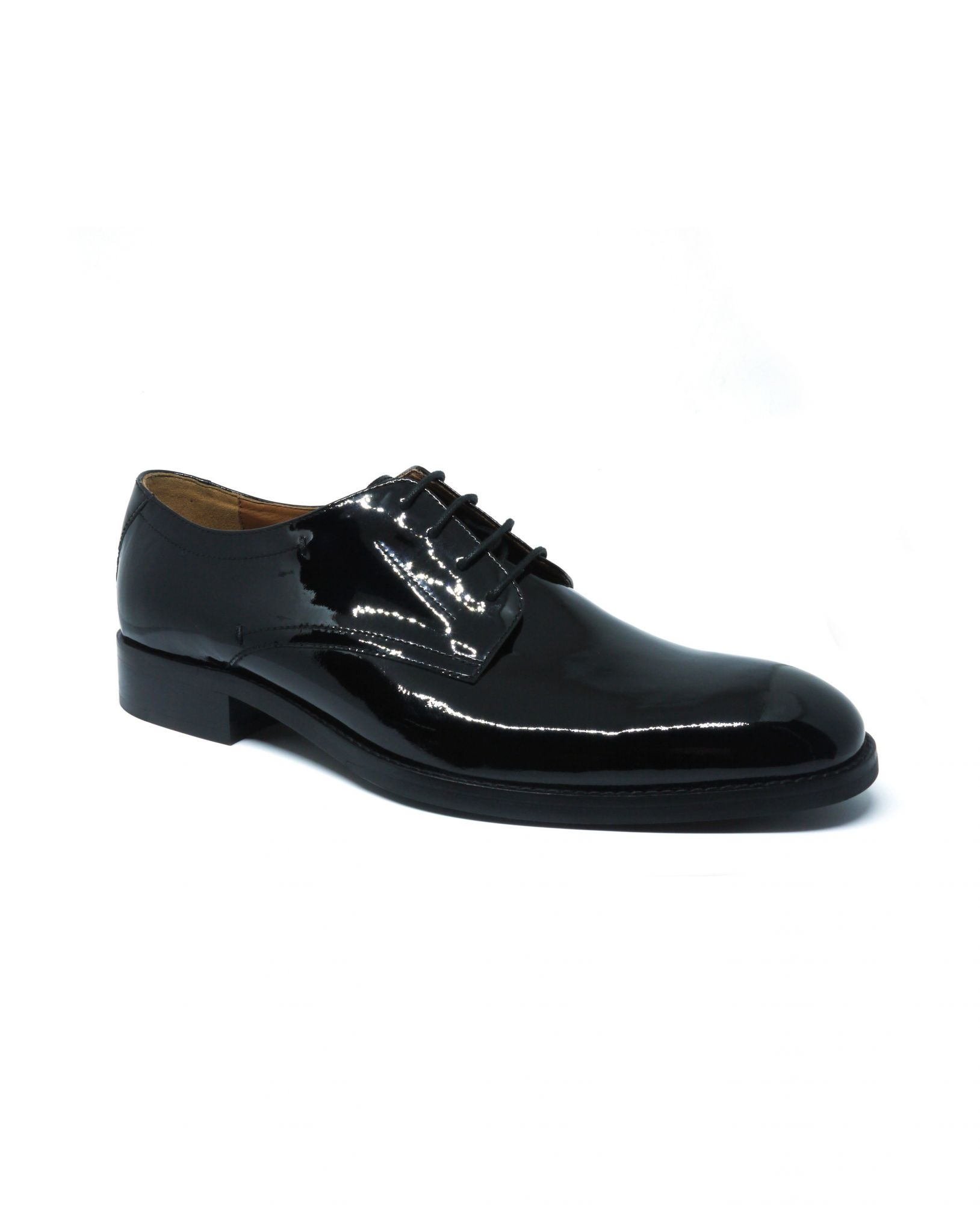 Black Patent Leather Derby Shoes 9