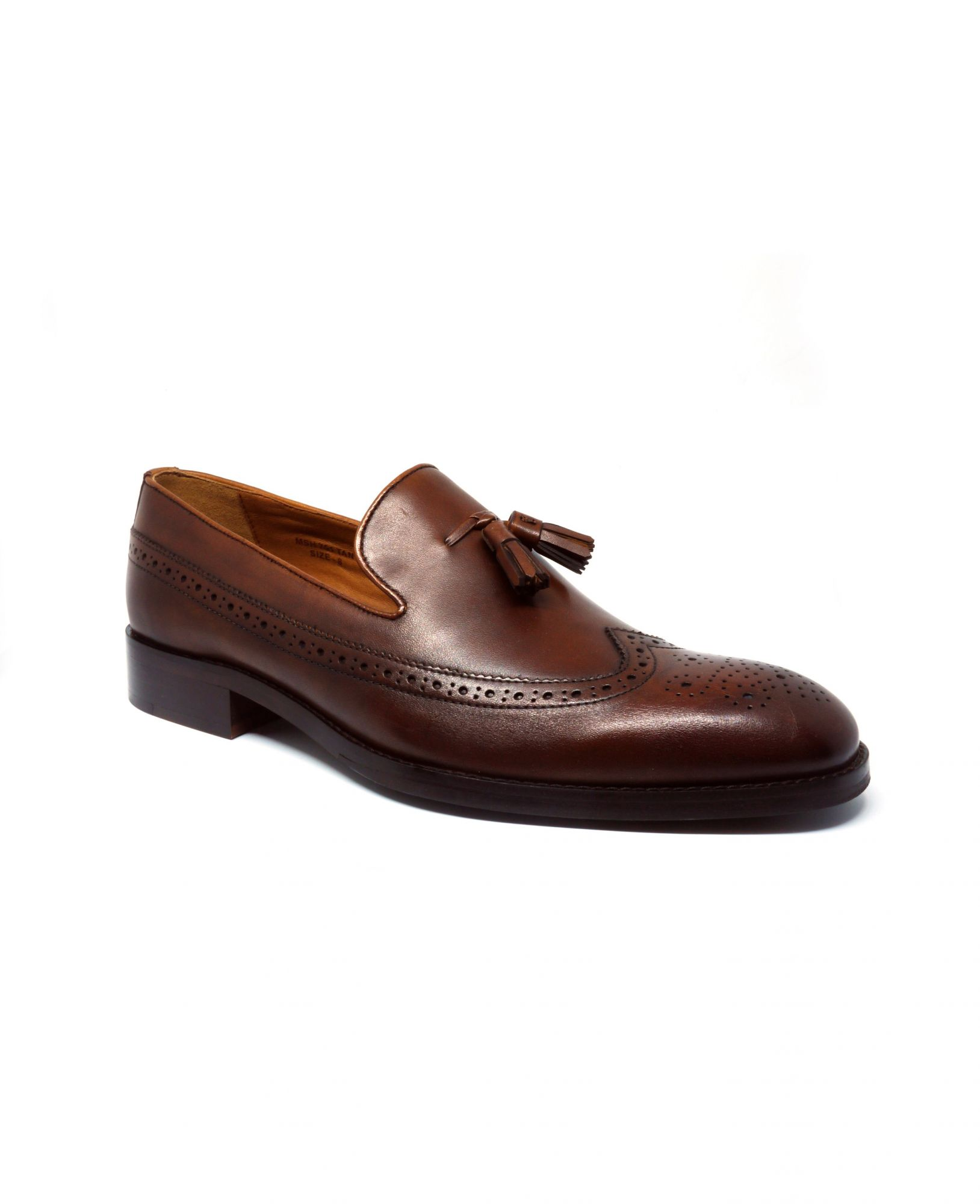 Chocolate Brown Leather Tasselled Loafers 11