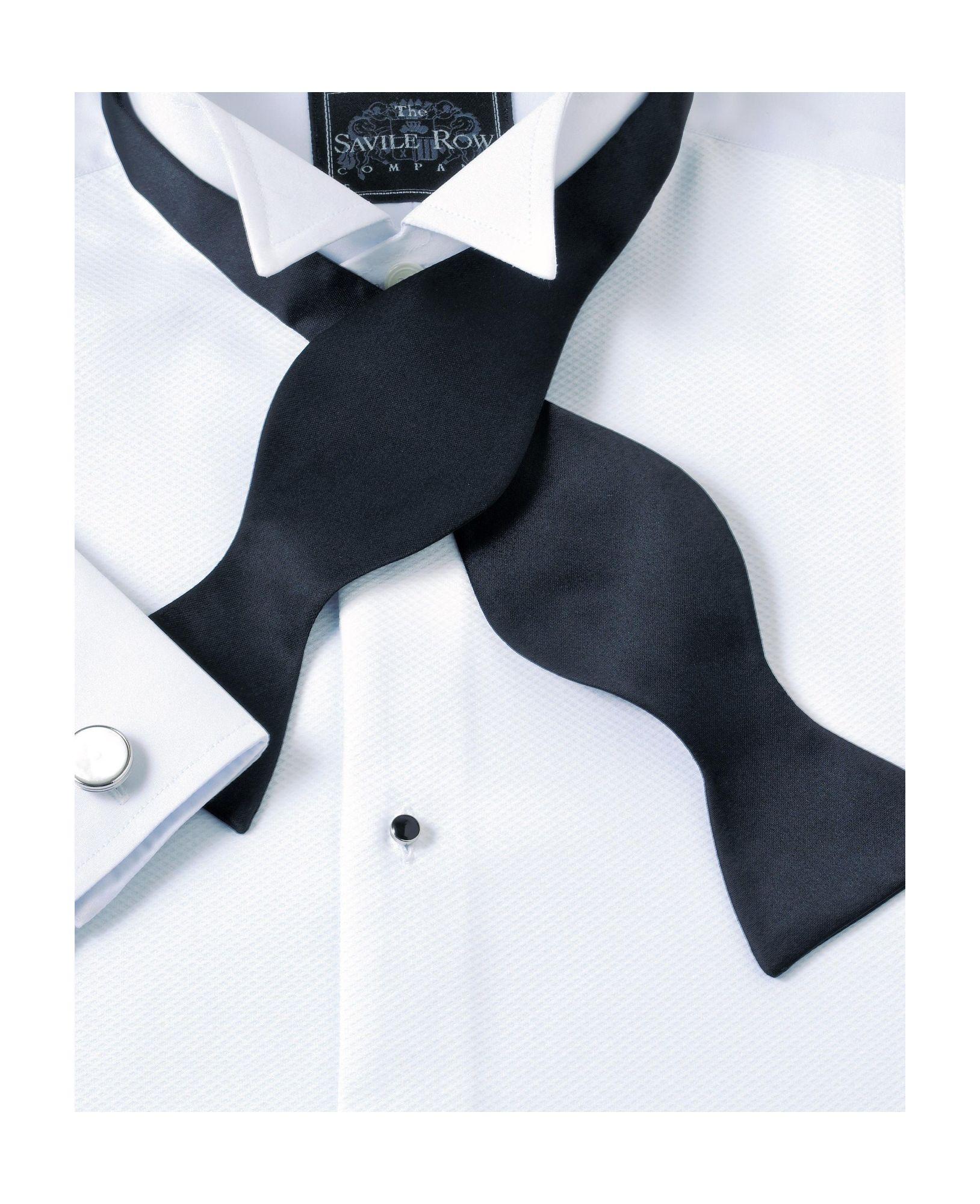 Black Self Bow Silk Tie