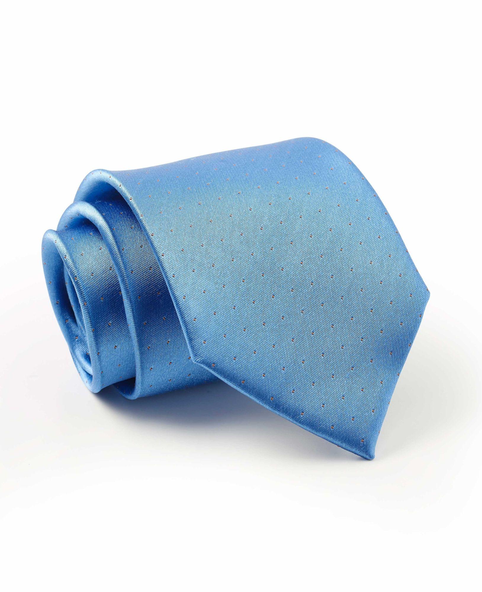 Light Blue Fine Spot Silk Tie